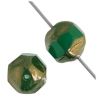 Fire polished Jagged Round 8mm Dark Green Luster